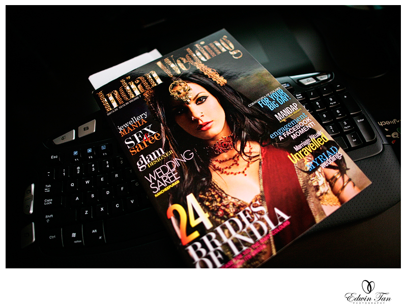 Thanks for Indian Wedding Magazine which recently featured some of my