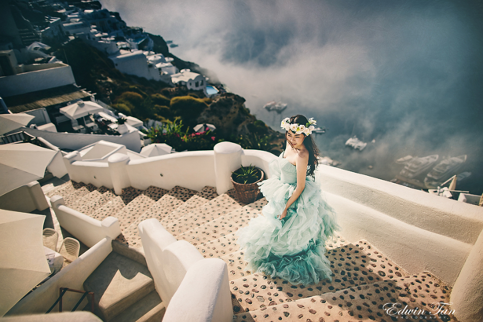 santorini prewedding by Edwin Tan